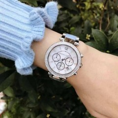 【情人节百元礼物推荐】Michael Kors 迈克高仕 Parker 系列 MK6138 施华洛世奇水晶手表