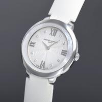 $699 (原价$2850) 国内公价¥ 19900 Baume and Mercier Promesse 系列镶钻珍珠母贝时装女表