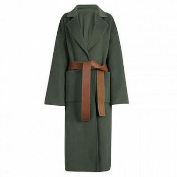 当当网商城 Lily 长款OL撞色系带双面呢大衣859元(可满2件8折)