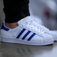 $39.99 adidas Superstar 经典贝壳头男鞋 蓝色款超值特卖