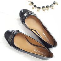 COACH 蔻驰 Oswald 女士真皮平底鞋  44.99美元约¥285(原价165美元)