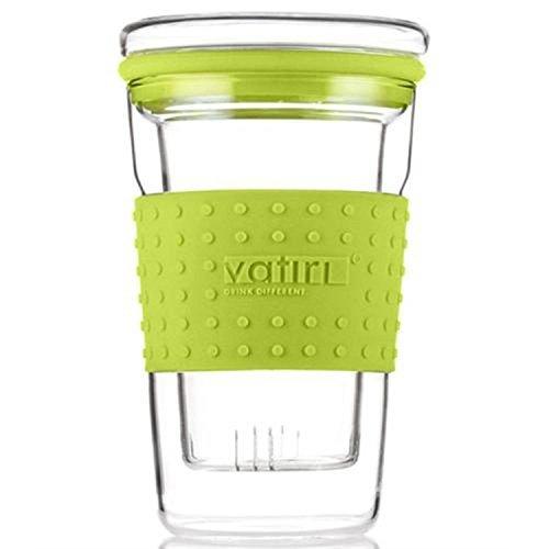 Vatiri乐怡 360ML糖果过滤式耐热玻璃杯VTC0007 苹果绿(赠送同色防烫PU皮套) 54.9元