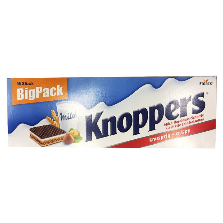 knoppers 榛子巧克力威化饼干 25g*15包 *3件 96.68元 德国原装进口