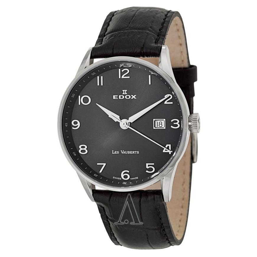 折合1043元 Edox 依度 Les Vauberts系列 70172-3N-NBN 男士石英腕表