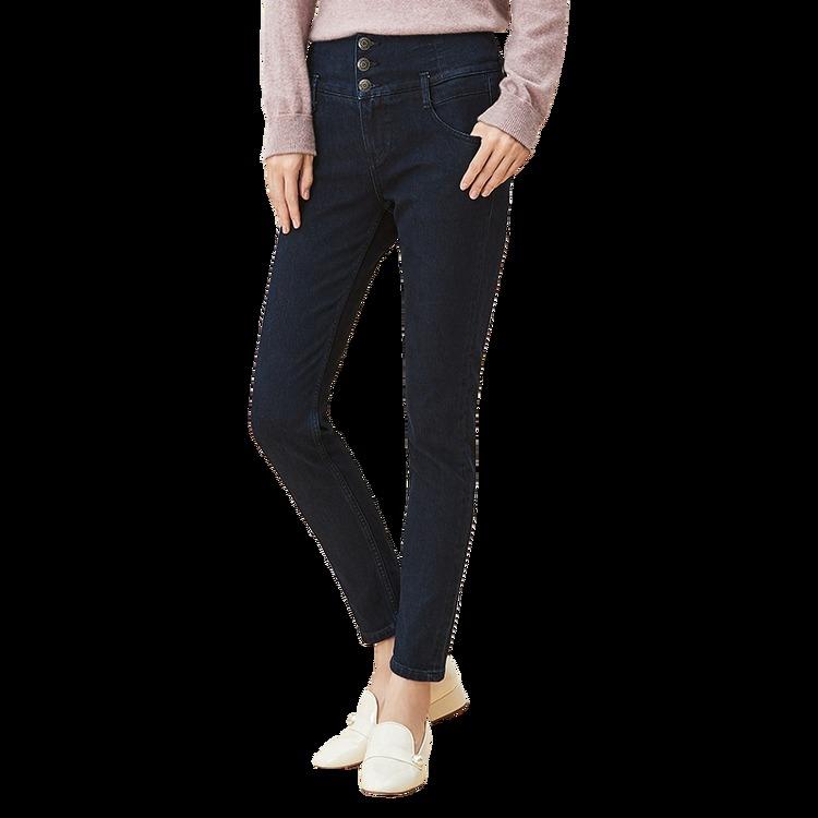 ¥129 女式火山岩冬季保暖牛仔裤-网易严选