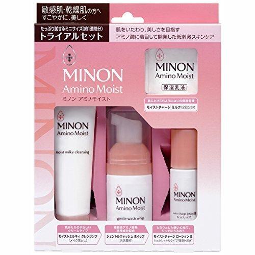 MINON 氨基酸实用保湿旅行套装4件套 降至890日元,约¥52,,支持直邮 890日元(约52.96元)