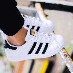 """白菜价 码超全!Adidas Originals 三叶草""""superstar"""" 金标 大童款运动鞋"""