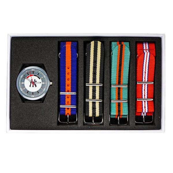 百变好款!MLB WATCH 鸡尾酒系列全钢尼龙表带手表 403.92元包邮(下单立减)