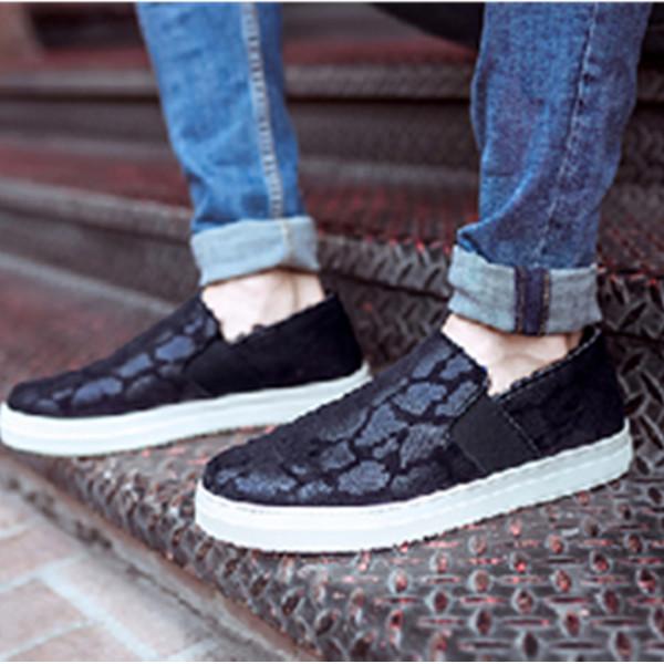 时尚有型!JOY&MARIO快乐玛丽 时尚蛇纹平底加绒套脚鞋 194.08元包邮(需用券)
