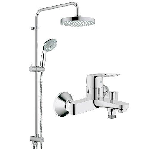 GROHE 高仪 126216 新天瀑淋浴系统 + 浴缸龙头套装 1399元包邮(需用码)