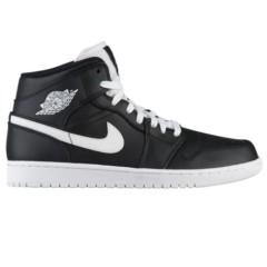 【女王节】额外8折最后半天 Air Jordan 乔丹 Aj 1 中帮男士篮球鞋 黑白配色