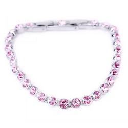 Swarovski 施华洛世奇 1179711 Tennis Light Rose 浅枚红色水晶手链 600元包邮(双重优惠)