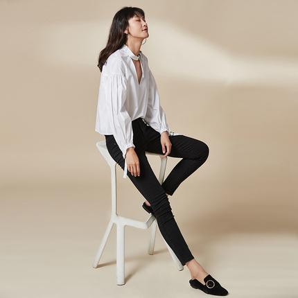 网易严选 女式超弹力修身塑形牛仔裤 2色 ¥75