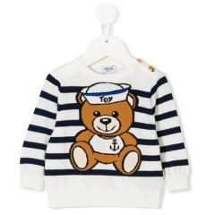 Moschino 条纹泰迪熊毛衣