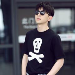 邓伦同款 Loewe 海盗图案T恤 黑白两色可选