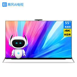 ¥2788 暴风AI电视555英寸人工智能免遥控64位4K超高清超薄互联网平板液晶显示网络电视机wifi55AI5A配外脑-1号店