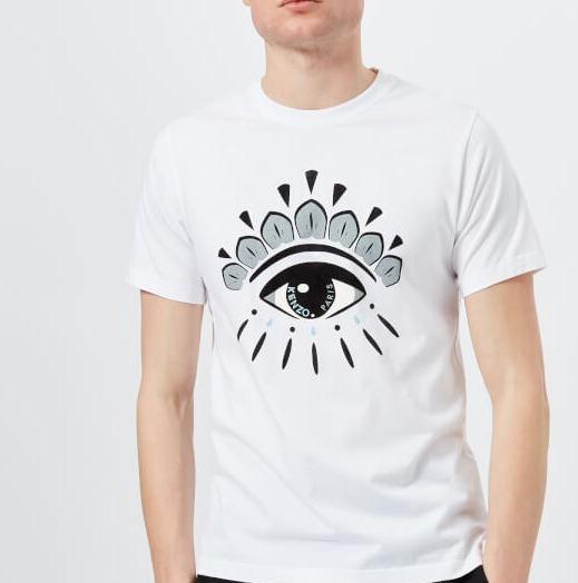 折合506.07元 KENZO男士标志性眼睛T恤 - 白色