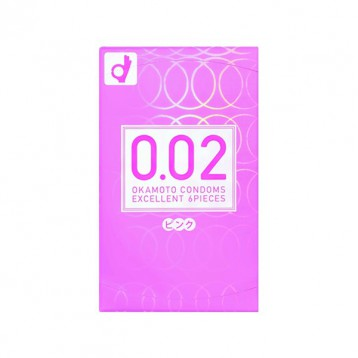 补货!Okamoto冈本 PINK 002 粉色超薄避孕套 6折 JPY¥643(¥33)