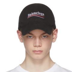 Balenciaga Black Campaign Cap 黑色棒球帽