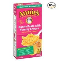 $7.72 Annie's 可爱兔子造型 儿童奶酪有机通心粉6oz 12盒装