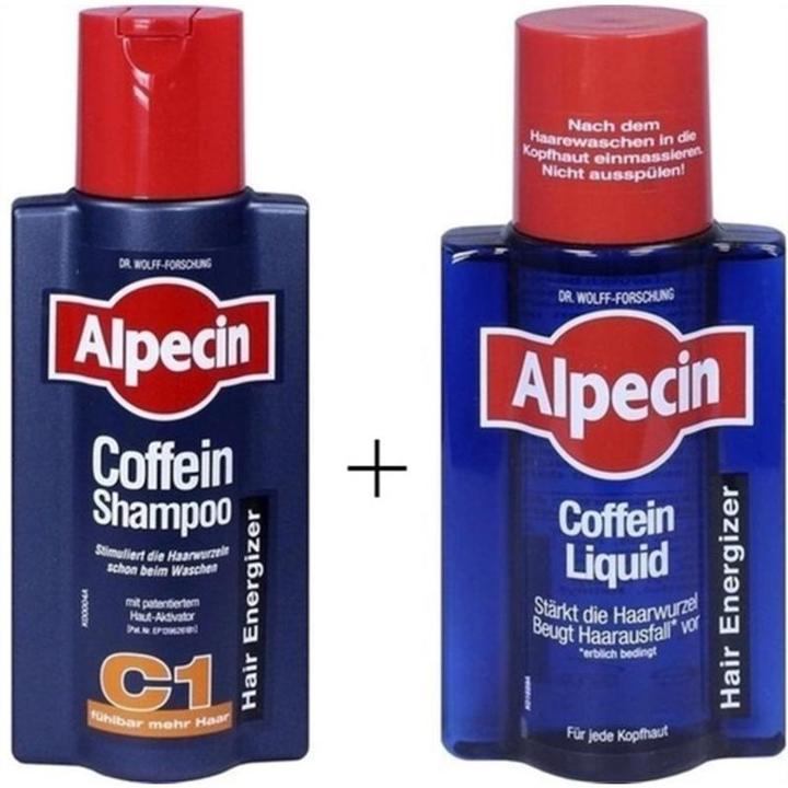 Alpecin C1止脱生发洗发露 250ml+防脱生发营养液 250ml €12.53 约合100元 可直邮