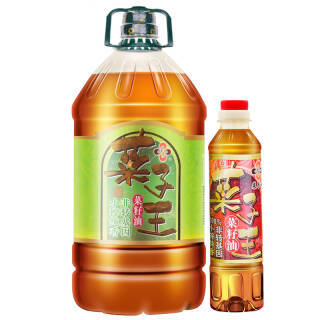 菜子王 小榨纯香非转基因 菜籽油 食用油 5L+400ml 59.9元