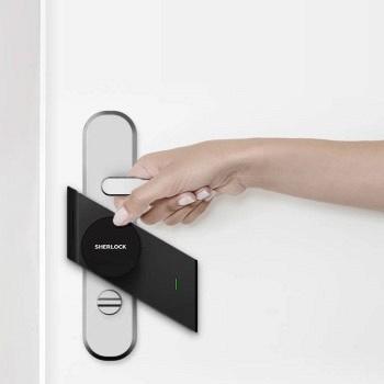 小米官网 米家X夏洛克 M1智能贴锁(免拆锁一贴即用)394元