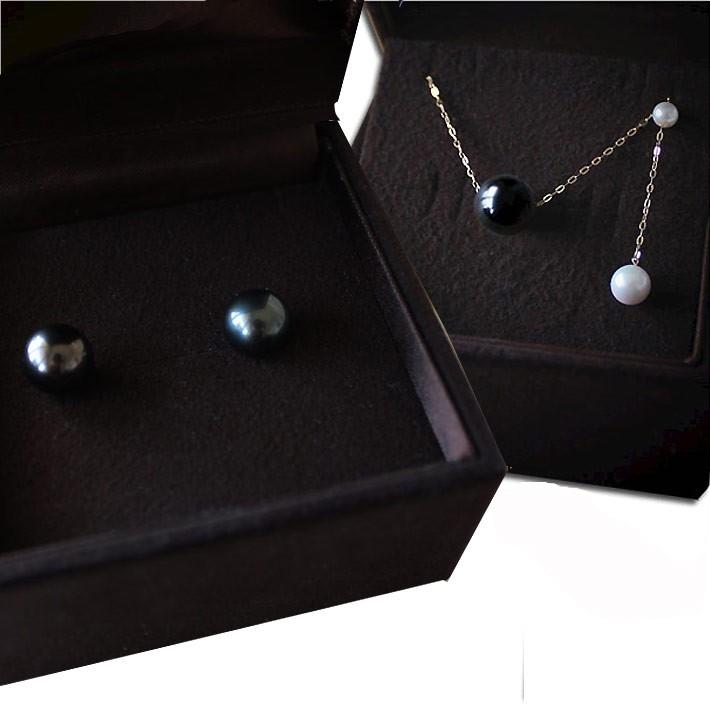 Pearlyuumi 大溪地 黑蝶珍珠 項鏈+耳釘 28500日元約1685元需用碼 包直郵