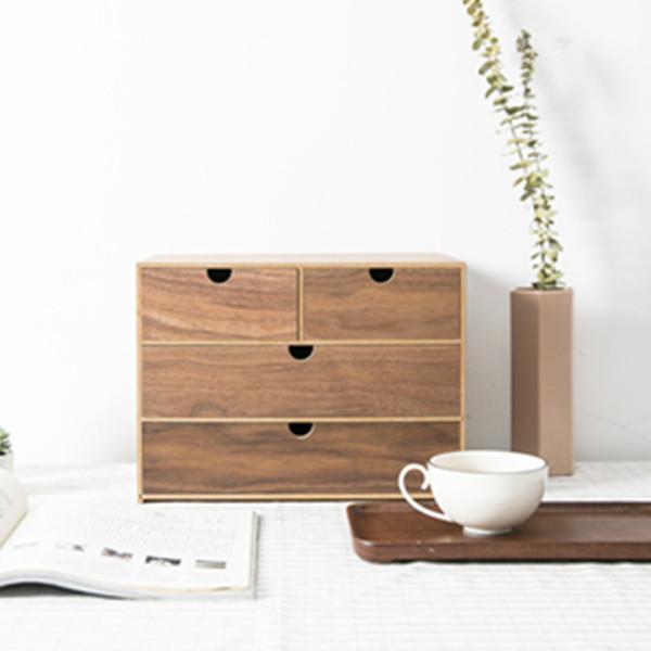 多格收纳!网易严选日式木质收纳盒3层 限时优惠价118元包邮