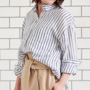 le coeur blanc 女士亚麻衬衫 8650日元 转运到手约合人民币590元