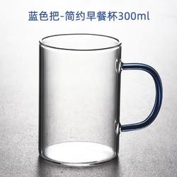雅致天诚 玻璃杯彩色把手 300ml 多色可选