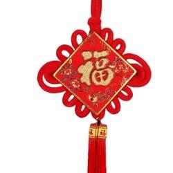 唐礼 中国结福字挂件 23*54cm 活动款 送静电贴 10张