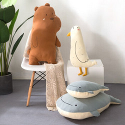 蓝白玩偶旗舰店公仔ins网红抱枕可爱睡觉玩具熊(70厘米) 大号
