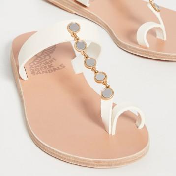 小众时尚品牌【风尚大赏】Ancient Greek Sandals Iris Mirrors 皮凉鞋  用码 US$242.25美金(¥1581.84)海淘