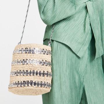 西班牙设计师品牌:Paco Rabanne 1969 R 草编水桶包 Shopbop烧包网6折直减¥4694.83 海淘