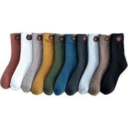 YUZHAOLIN 俞兆林 小熊袜毛圈加厚袜 5双装